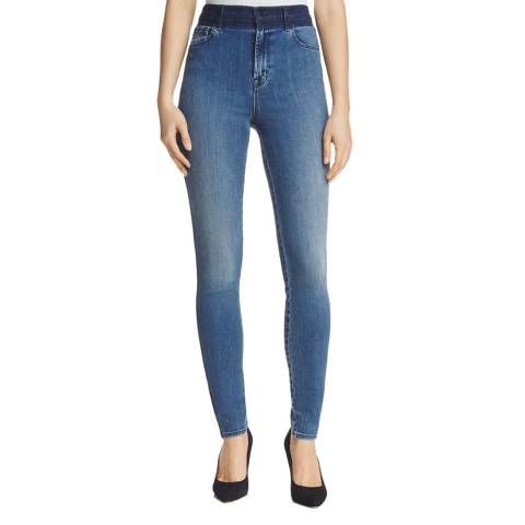 J Brand Point Blank Blue Maria High Rise Skinny Stretch Jeans