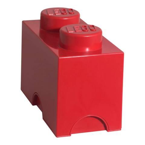Lego Red 2 Brick Storage Box
