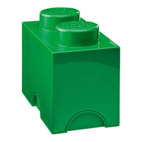 Lego Brick 2 Storage Box, Green