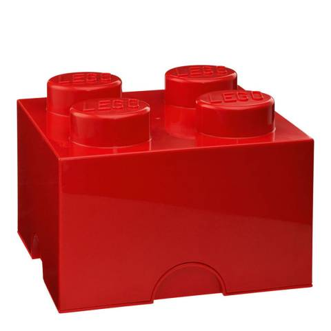 Lego Brick 4 Storage Box, Red