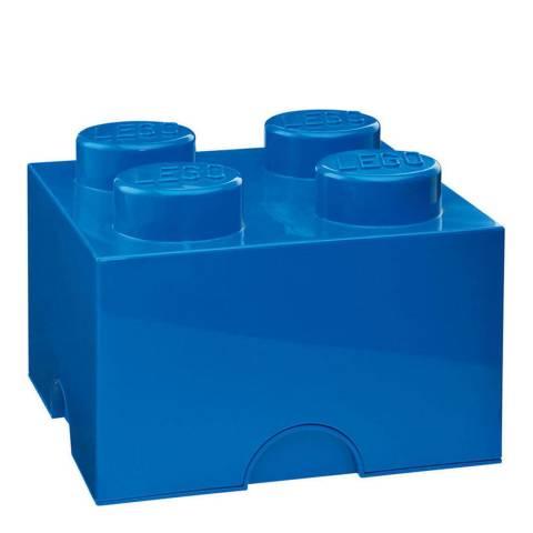 Lego Brick 4 Storage Box, Blue