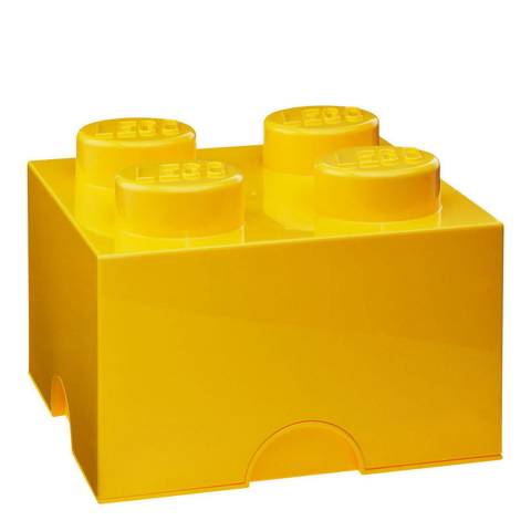 Lego Yellow 4 Brick Storage Box