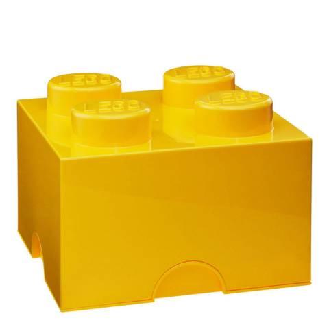 Lego Brick 4 Storage Box, Yellow