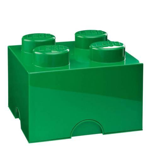 Lego Green 4 Brick Storage Box