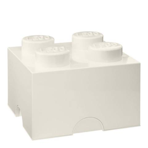 Lego Brick 4 Storage Box, White