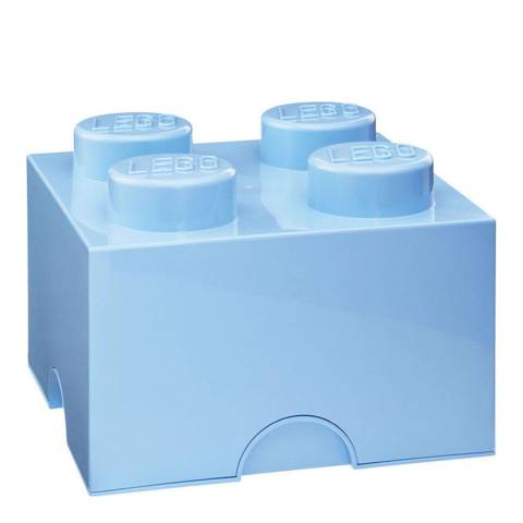 Lego Brick 4 Storage Box, Pale Blue