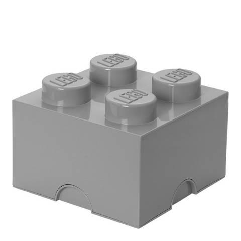 Lego Grey 4 Brick Storage Box