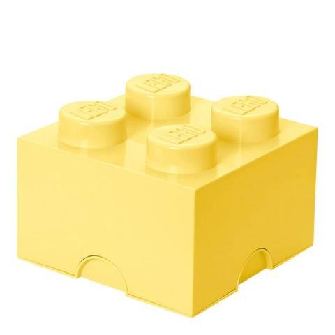 Lego Brick 4 Storage Box, Cool Yellow