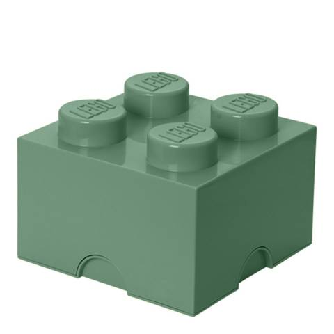 Lego Brick 4 Storage Box, Sand Green