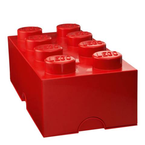 Lego Red 8 Brick Storage Box