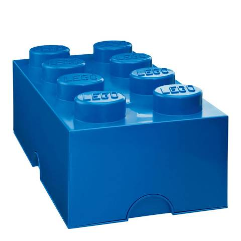 Lego Brick 8 Storage Box, Blue