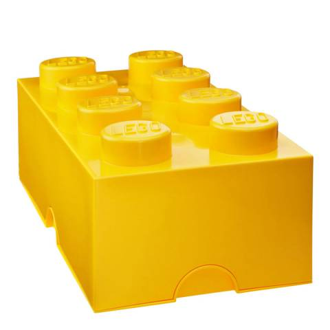 Lego Brick 8 Storage Box, Yellow