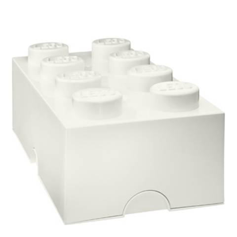 Lego Brick 8 Storage Box, White