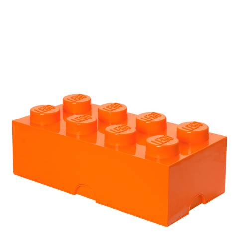 Lego Brick 8 Storage Box, Orange