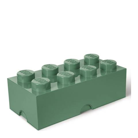 Lego Brick 8 Storage Box, Sand Green