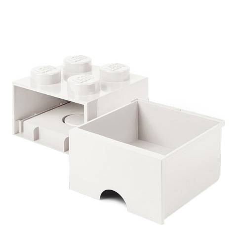 Lego White 4 Brick Drawers