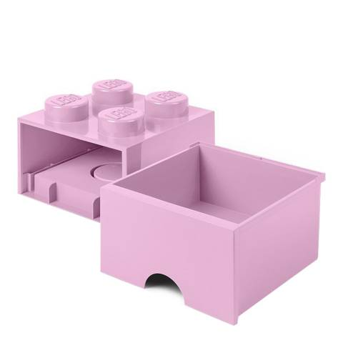 Lego Light Purple 4 Brick Drawers