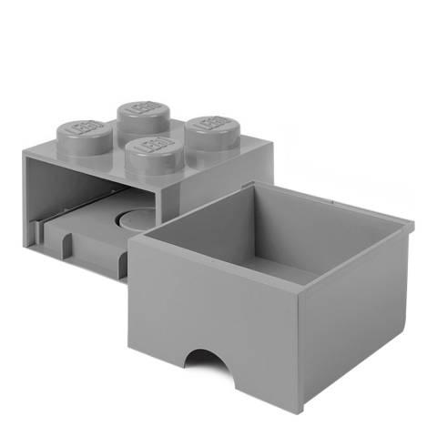 Lego Grey 4 Brick Drawers