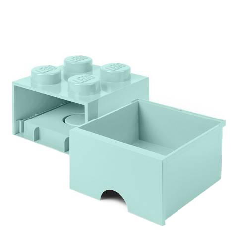 Lego Blue 4 Brick Drawers