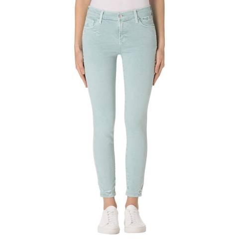 J Brand Liaison Blue 835 Cropped Skinny Stretch Jeans