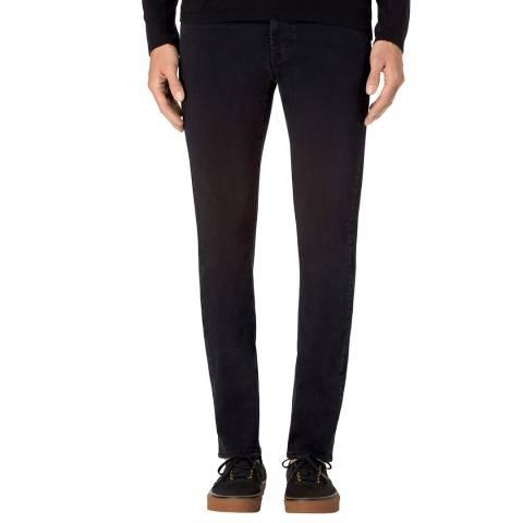 J Brand Hype Black Parallax Moto Skinny Stretch Jeans