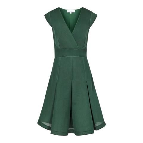 Reiss Green Riviera Textured Dress
