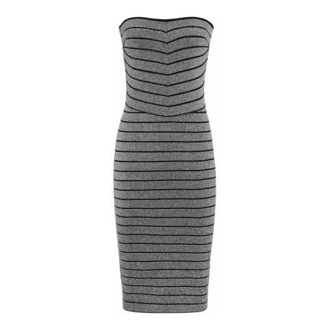 Reiss Silver Kym Bandage Dress