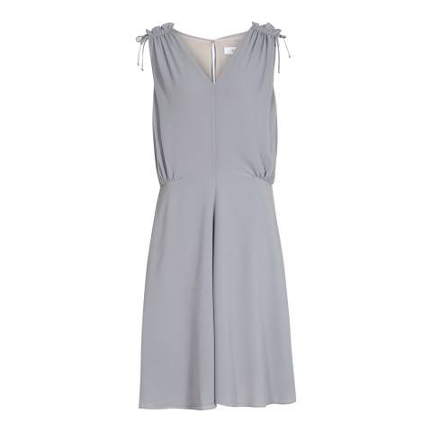 Reiss Zinc Stellie Ruffle Shoulder Dress