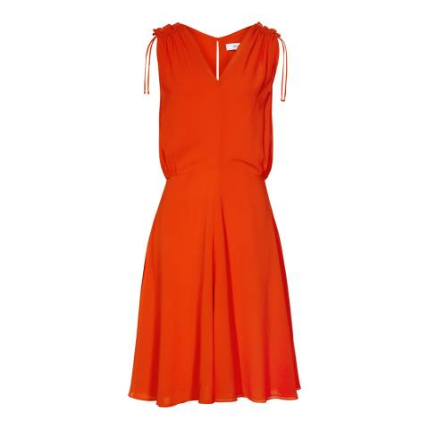 Reiss Ruby Stellie Ruffle Shoulder Dress