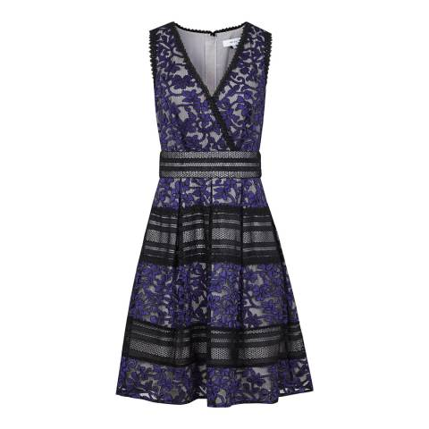 Reiss Multi Tally Lace Detail Dress