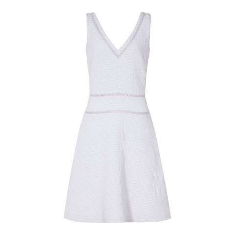 Reiss Light Mist Nelly Textured Dress