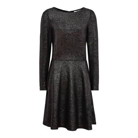 Reiss Gunmetal Orion Metallic Dress