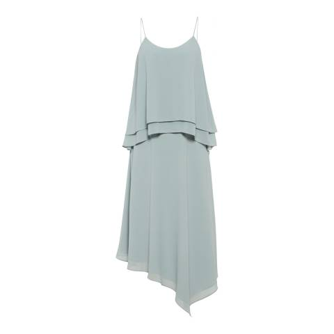 Reiss Ocean Blue Ansley Layered Dress