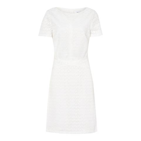 Reiss Off White Magnolia Lace Dress
