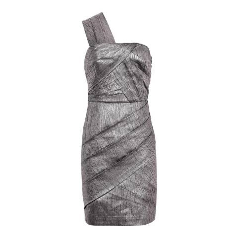 Reiss Silver Uma Bustier Dress