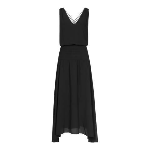 Reiss Black Mari Maxi Dress