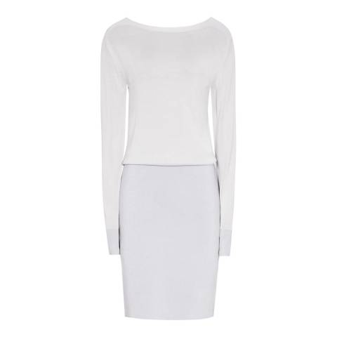 Reiss Grey Blume Knitted Dress