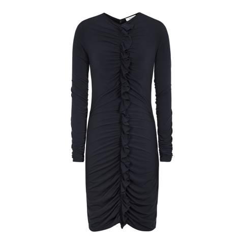 Reiss Night Navy Harriet Ruffle Dress