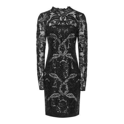 Reiss Gunmetal Asabi Sequin Dress