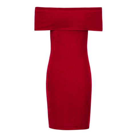 Reiss Red Verity Velvet Dress