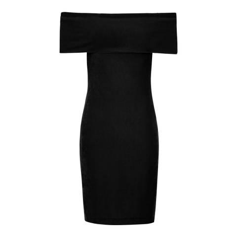 Reiss Black Verity Velvet Dress