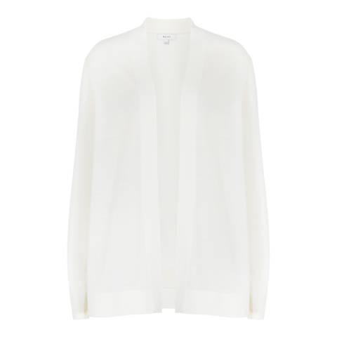 Reiss Off White Tanner Wool/Silk Cardigan