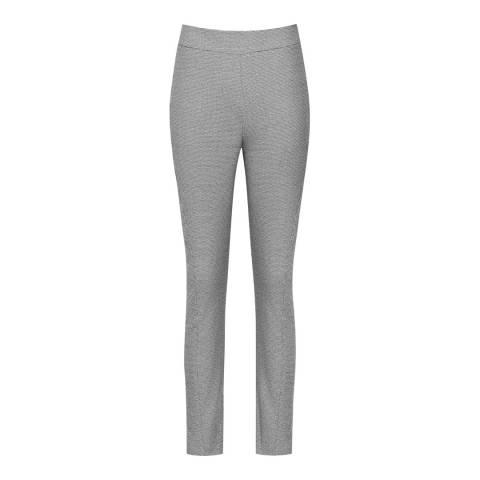 Reiss Black/Off White Stala Skinny Trousers