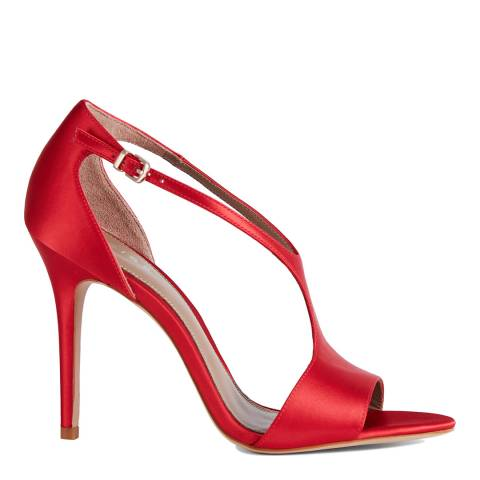 Reiss Red Maxine Satin Stiletto Heels