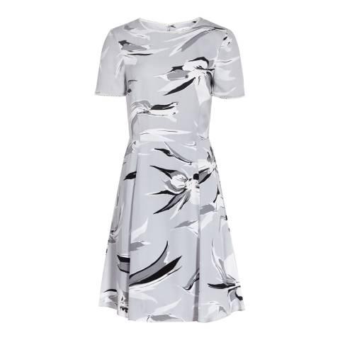 Reiss Grey/Black Bronte Printed Dress