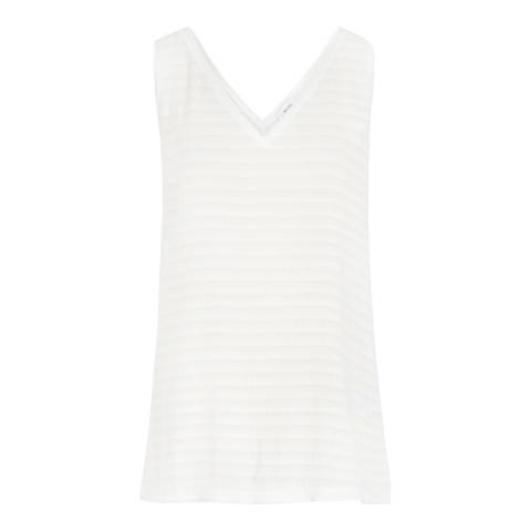 Reiss Off White Lilienne Tank Top