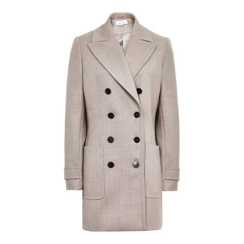 Reiss Light Grey Luella Wool Coat