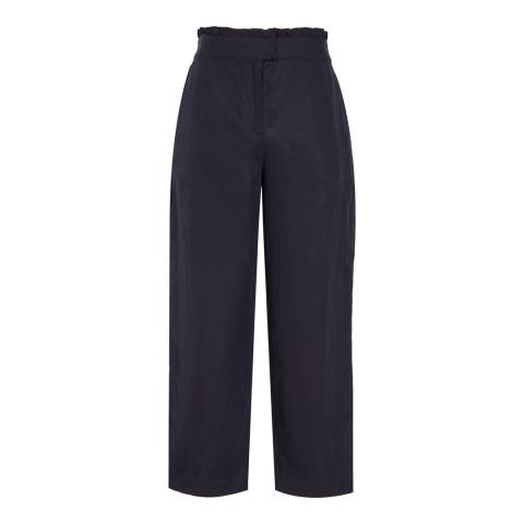 Reiss Night Navy Launi Cropped Trousers