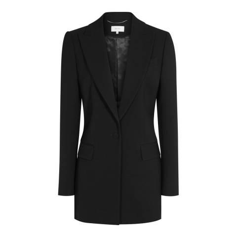 Reiss Black Oxley Longline Blazer