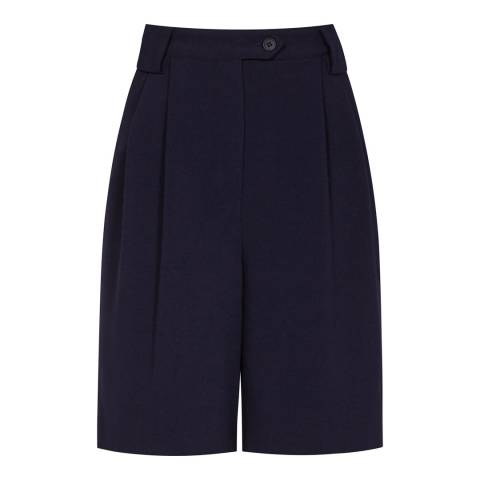 Reiss Navy Linetti Tailored Shorts